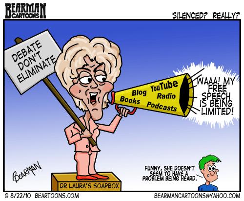Bearman Cartoons Dr Laura Free Speech