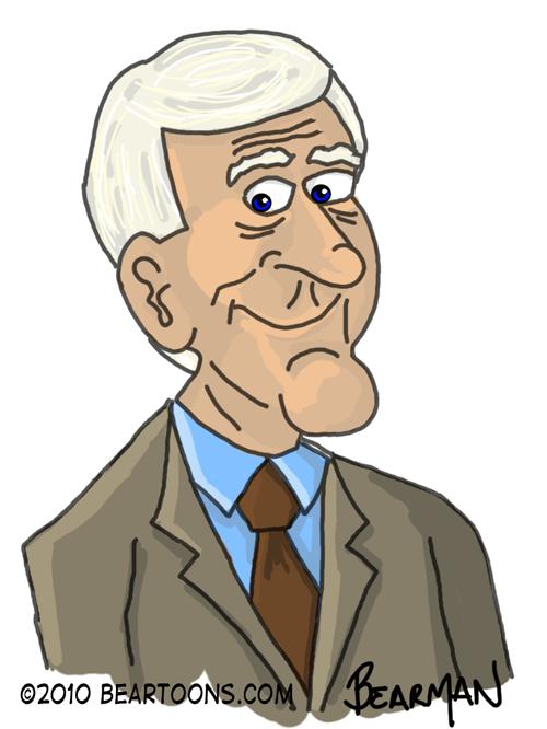 Leslie Nielsen Caricature