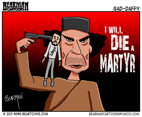 Editorial Cartoon - Gaddafi