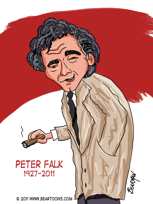 Peter Falk Cartoon
