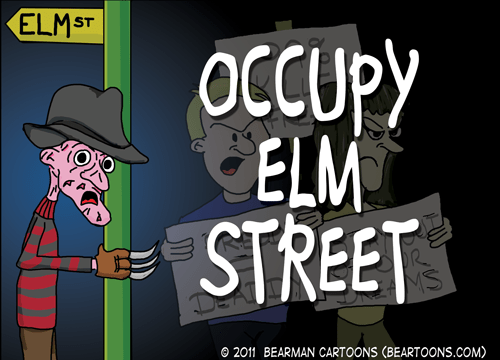Bearman Cartoons Occupy Elm Street Poster
