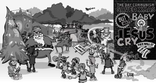 Occupy North Pole Editorial Cartoon