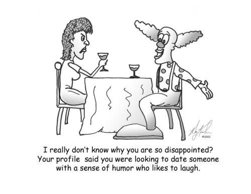 Dating a Clown by Bearman Cartoons