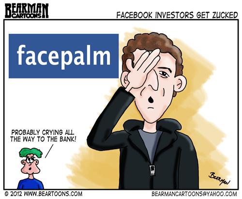 Editorial-Cartoon Mark Zuckerberg Facebook Facepalm