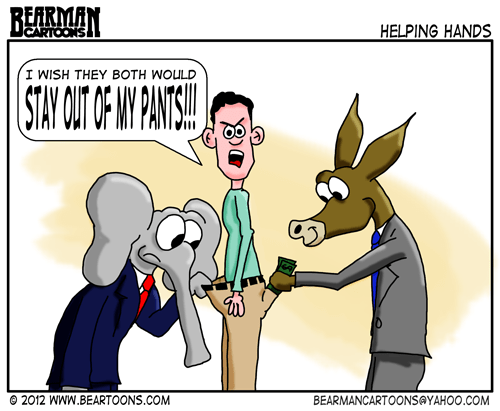 Editorial Cartoon: Republicans and Democrats in My pants
