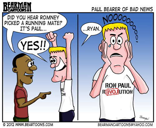 Editorial Cartoon: Mitt Romney Picks the Wrong Paul