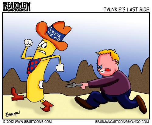 Bearman Cartoon Twinkie the Kid's Last Ride