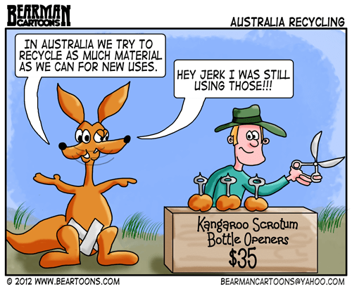 Bearman Cartoons Recycling efforts in Australia
