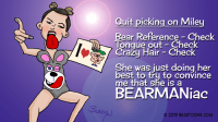 Miley Cyrus VMA 2013 Bear Outfit Bearman Cartoons Bearmaniac