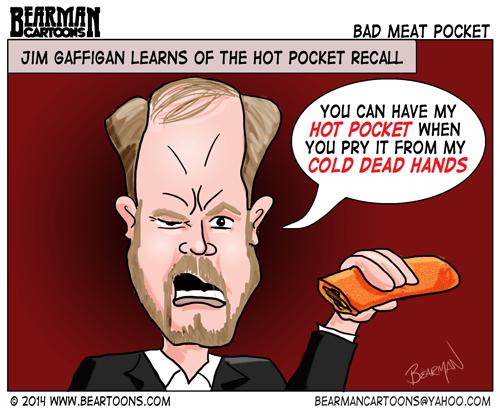 2 18 14 Bearman Cartoons Jim Gaffigan Responds to Hot Pocket Recall