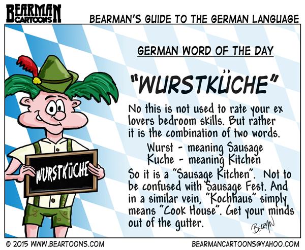 8-23-15-Bearman-Cartoon-German-Language-Wurstkuche