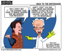 Bernie Sanders goes Back to the Future