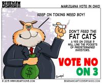 Vote No on Issue 3 Cartoon by bearman Cartoons