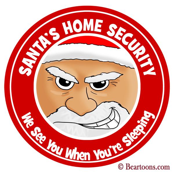 Santa-Claus-Home-Security-10x10-Bearman-Cartoons