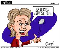 Hillary Clinton Coingate Editorial Cartoon