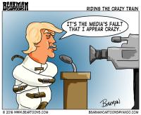 Trump blames Media