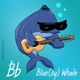B is for Blue Whale Animal Alphabets by Bearman Cartoons