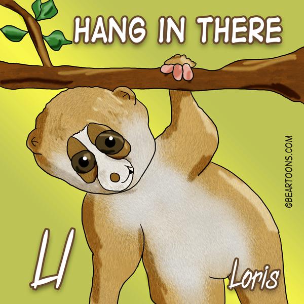 L is for Loris Animal Alphabets