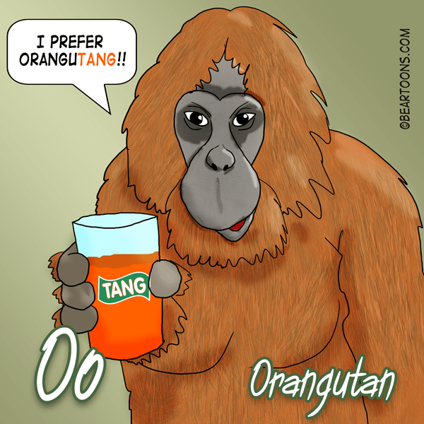 O-is-for-Orangutan-Animal-Alphabets-Bearman-Cartoons