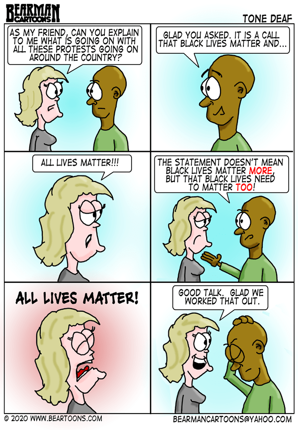 Bearman Cartoons Black Lives Matter Cartoon White Privilege