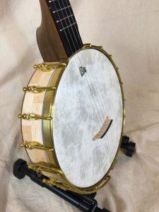 Banjo #006 – Hard Maple / Black Walnut / Wenge with Dobson tone ring