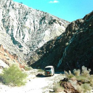 Bus in death valley