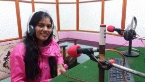 Image caption Krishnamaya has educated herself about chhaupadi through her work as a radio journalist