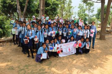 10 Oligaun After Menstrual cup training in schoo 61 cups here, and waiting list