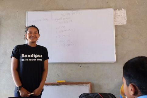 12 Oligaun Anju during a class of sexual education