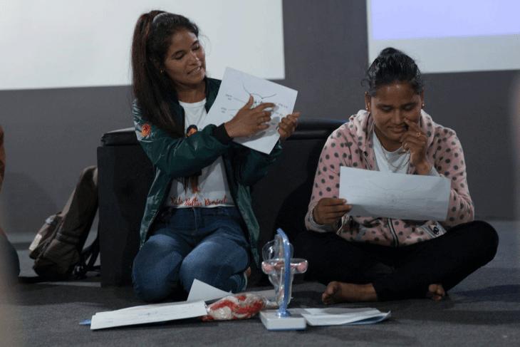 Manisha giving class in Kathmandu