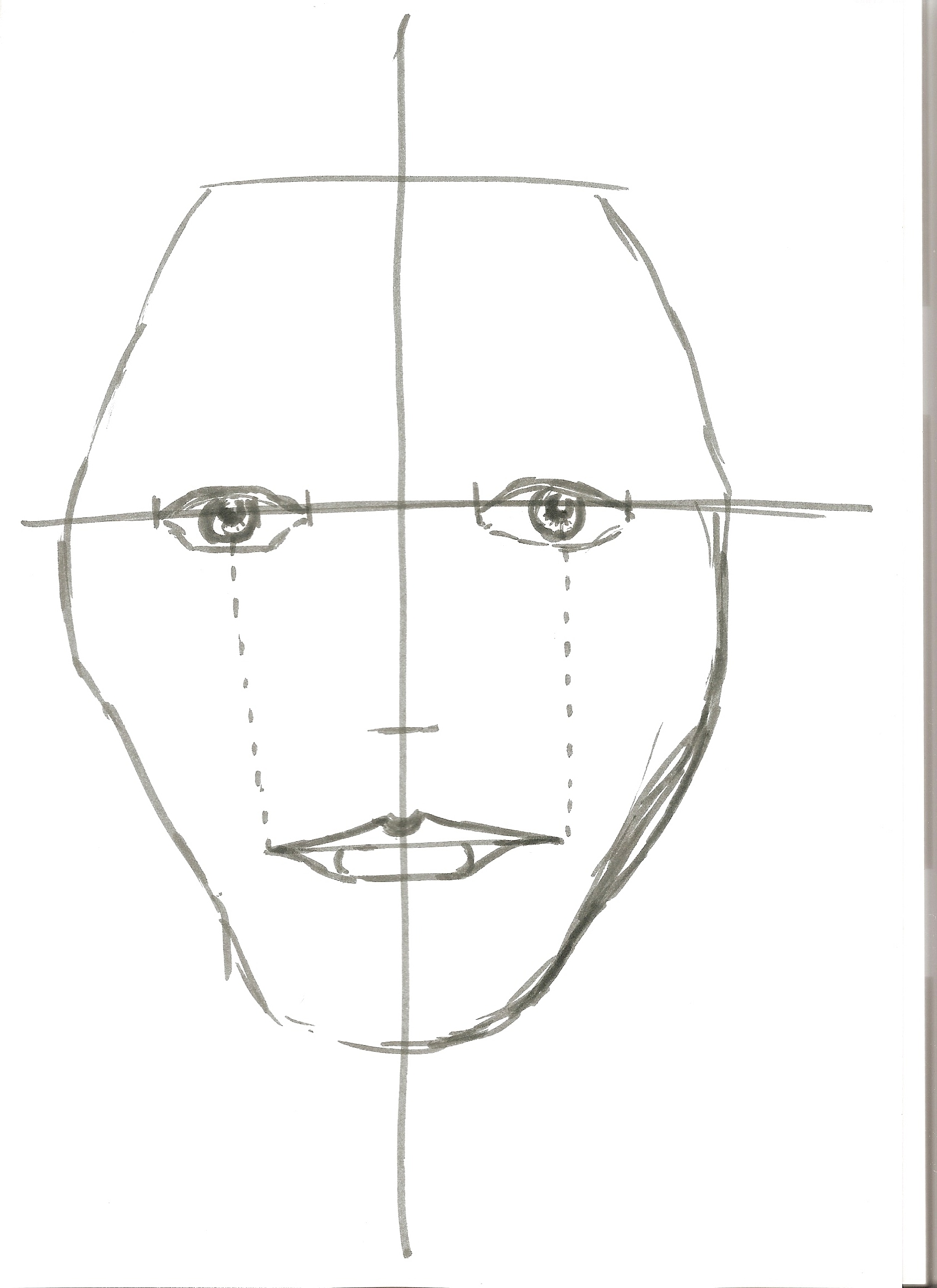 Draw A Face In Proportion