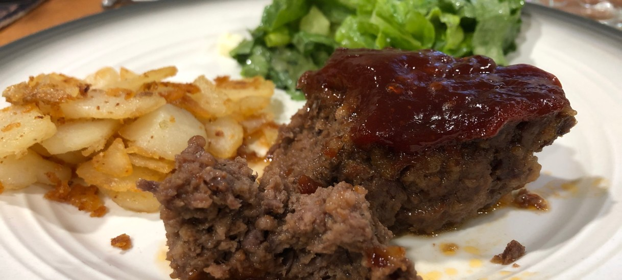 Smoky Apple Bourbon Meatloaf
