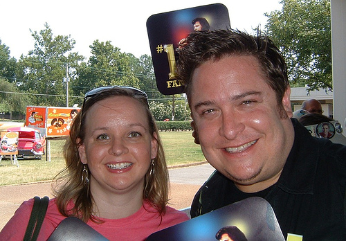 Me & Christine in line @ Graceland!