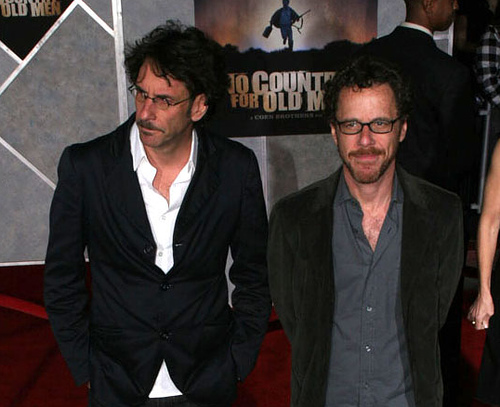 "AP pic of Joel & Ethan Coen on the ""No Country"" red carpet (Nov. 4, 2007)"
