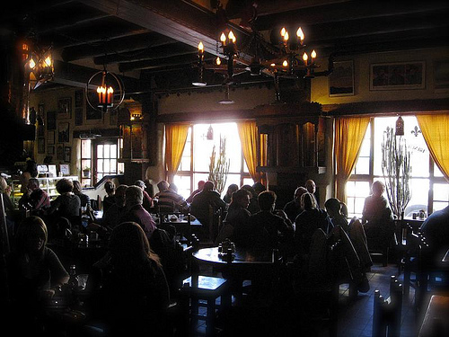 Another view of The French Pastry Shop, Santa Fe (Feb. 2008)