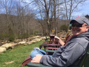 Chill in' at a winery in Boone, NC