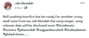 "The Song Singer ""Jah Wondah"" Set To Drop New Song(See photos) 9"