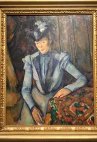 Lady in Blue, by Paul Cézanne