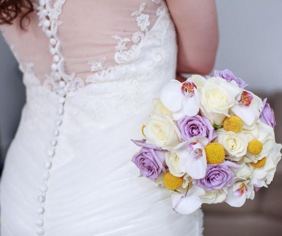 Handmade floral wedding bouquet