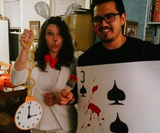 Alice in Wonderland couples costume