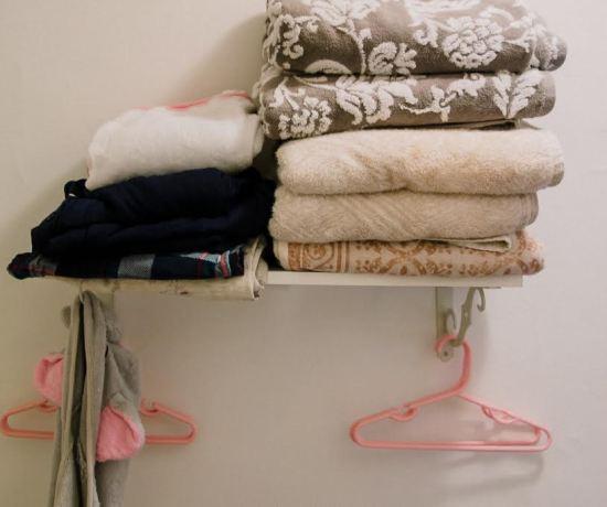 Homemade shelf storage