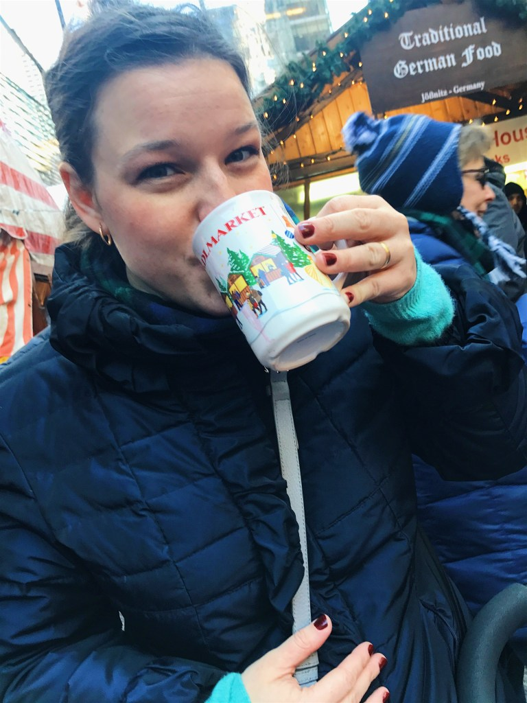 Gluhwein at the Christmas market