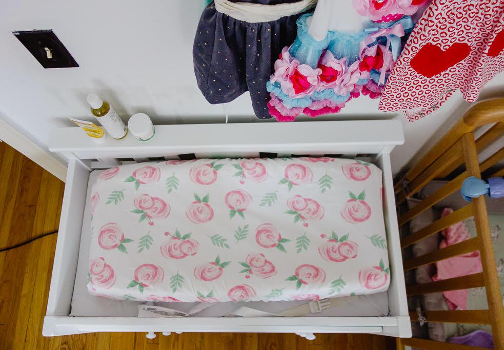 rose diaper pad
