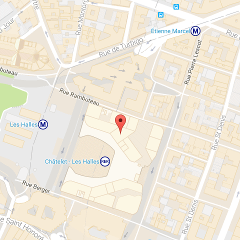 Carte Châtelet Les Halles - La Place Zoom