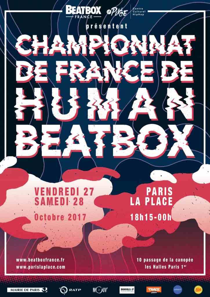 Affiche championnat de France de human beatbox 2017