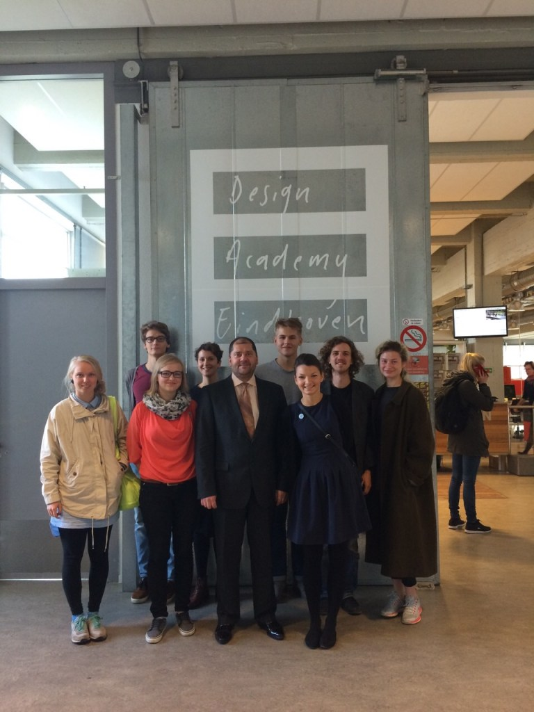 The ambassador of Latvia came to meet and greet the Latvian students that study in the Design Academy Eindhoven