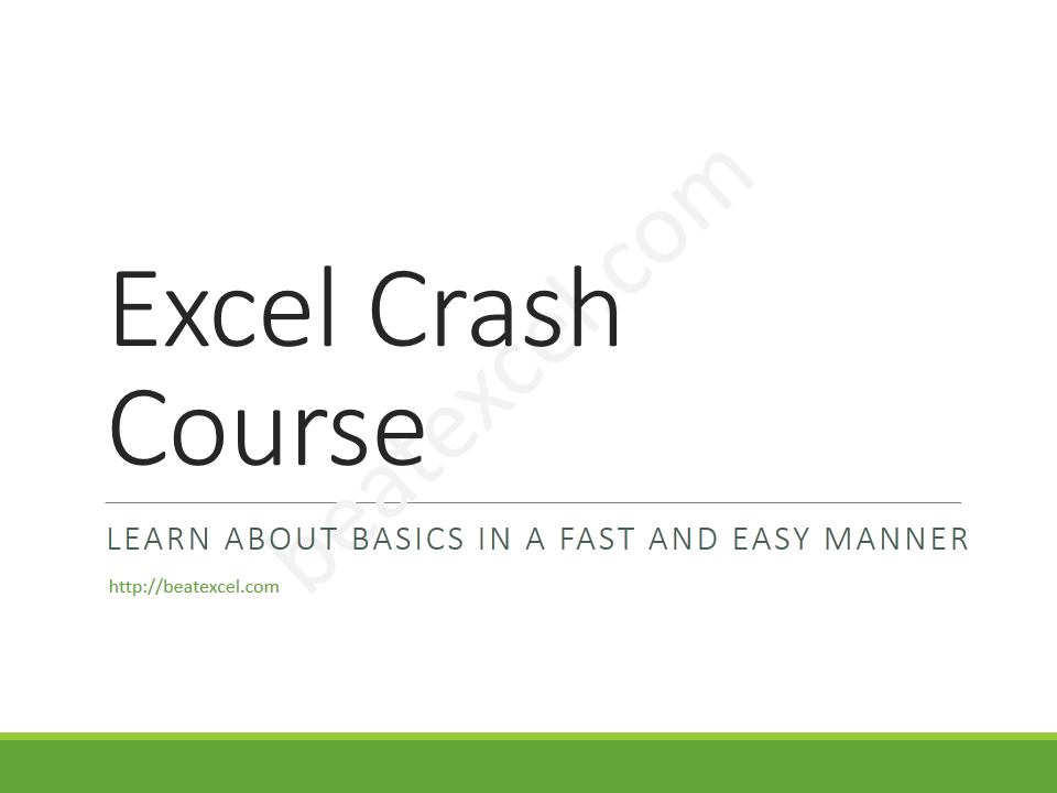 Excel Crash Course - Slide1