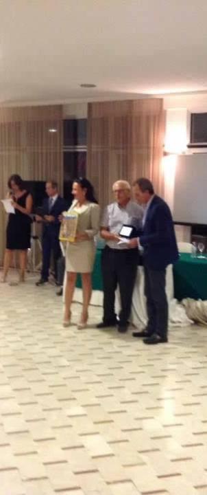Massimo Occhipinti con il Sindaco di Erice G. Tranchida e la Pres. dell'associzione organizzatrice