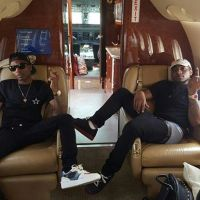 Davido And Wizkid Travel Together On A Private Jet (Photos)