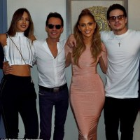 Jennifer Lopez And Boyfriend Pictured With Marc Anthony And Wife
